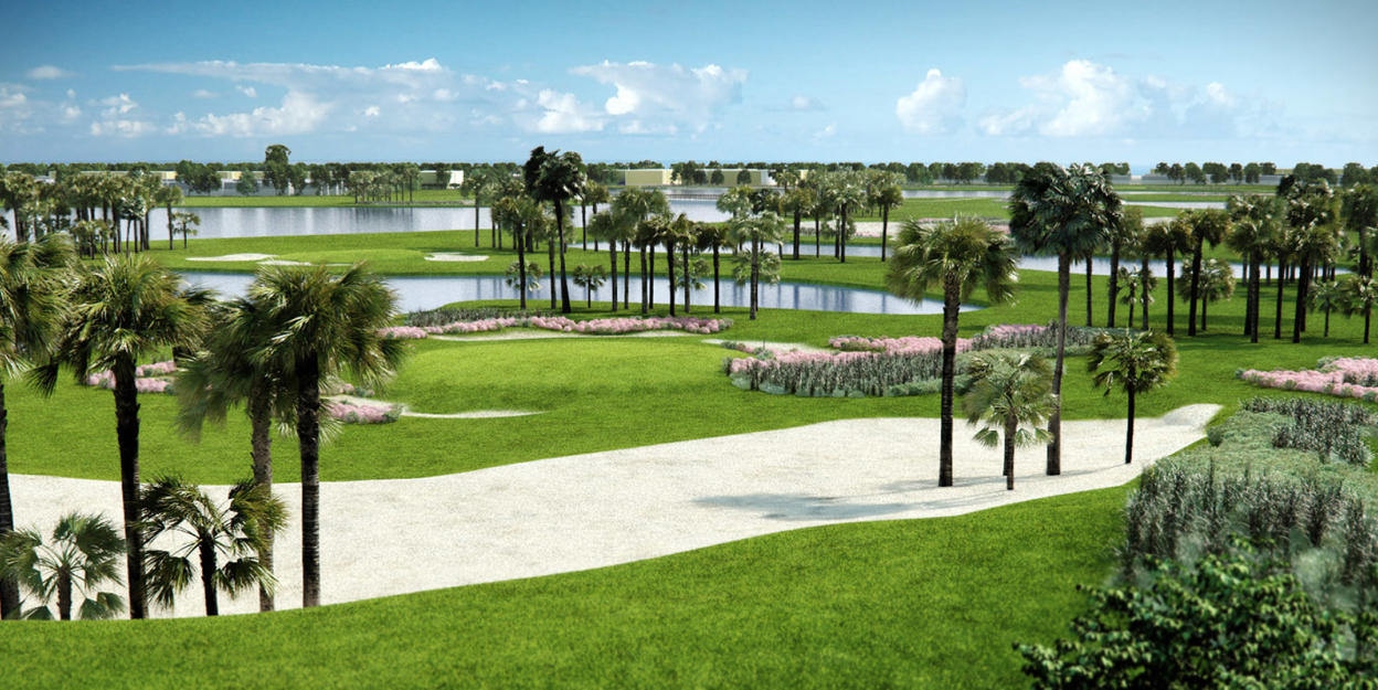 Perspective View of Golf Resort FL USA