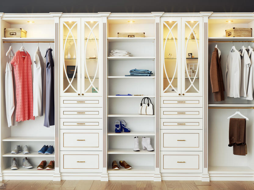 Open wardrobes www.Closetsolution.CA