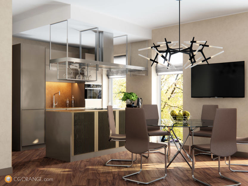 Modern Kitchen and Diner Designs with Metalwork